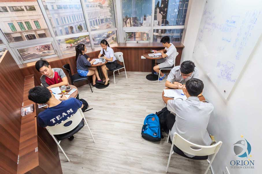 Group of Student Studying in Orion Tuition Centre
