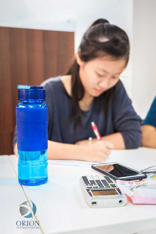 Student Studying in Orion Tuition Centre